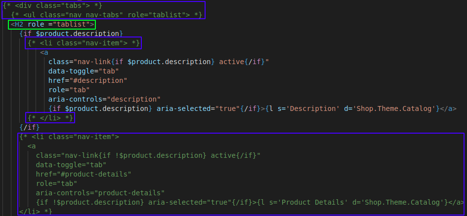 remove product details in Prestashop
