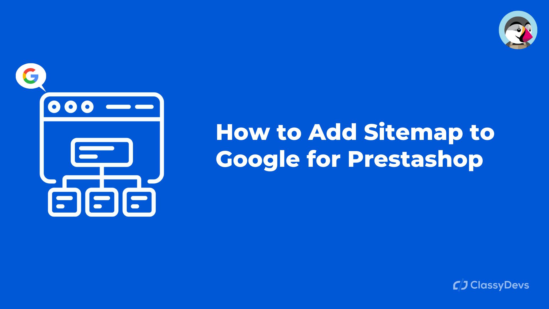 add google sitemap prestashop 1.7