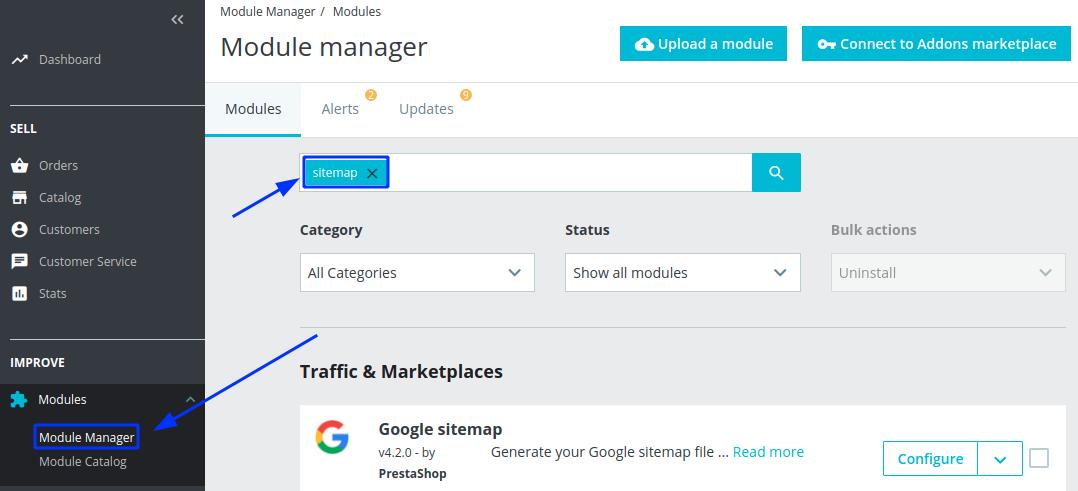 google sitemap module prestashop download