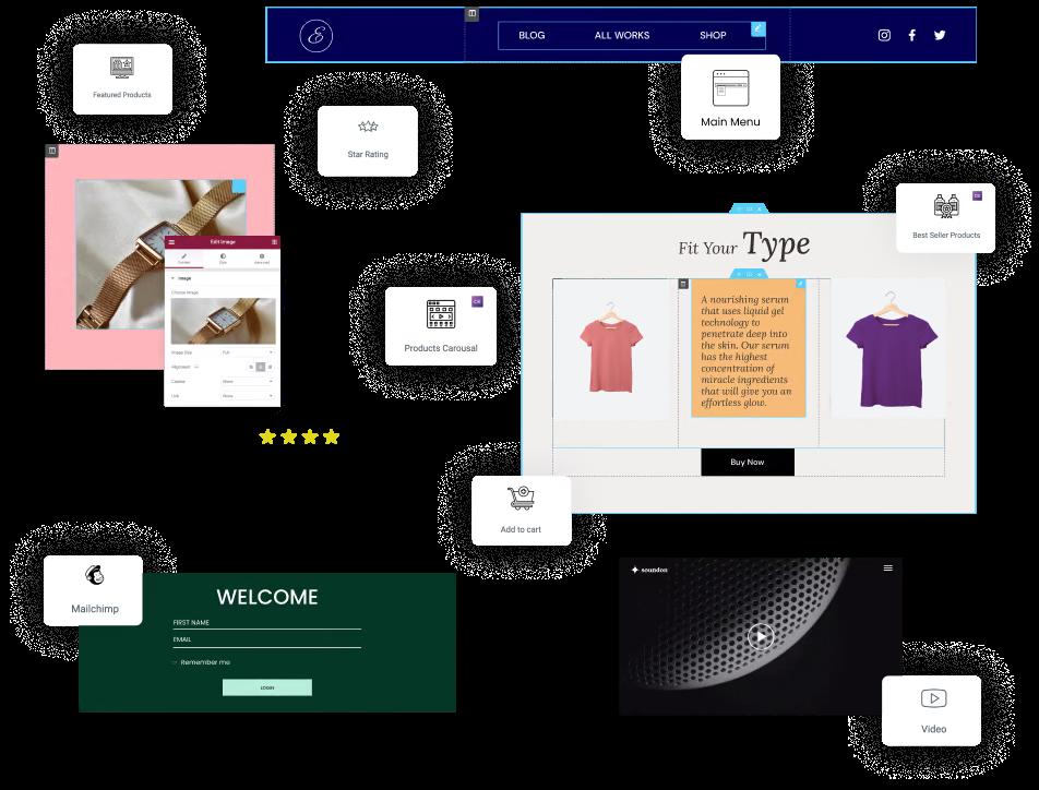 free prestashop page builder widget